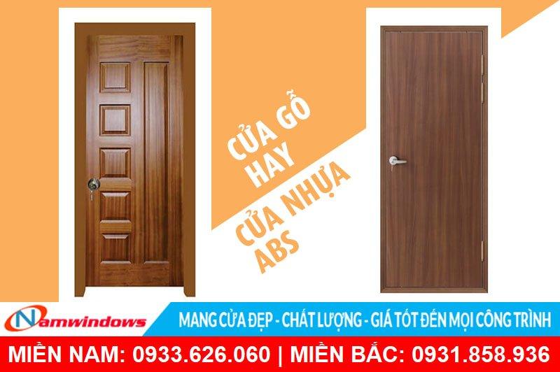Cửa gỗ và cửa nhựa giả gỗ Hàn Quốc