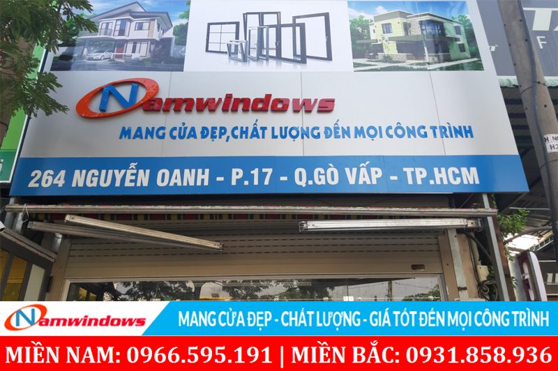 Cửa hàng cuanhuanamwindows showroom Nguyễn Oanh