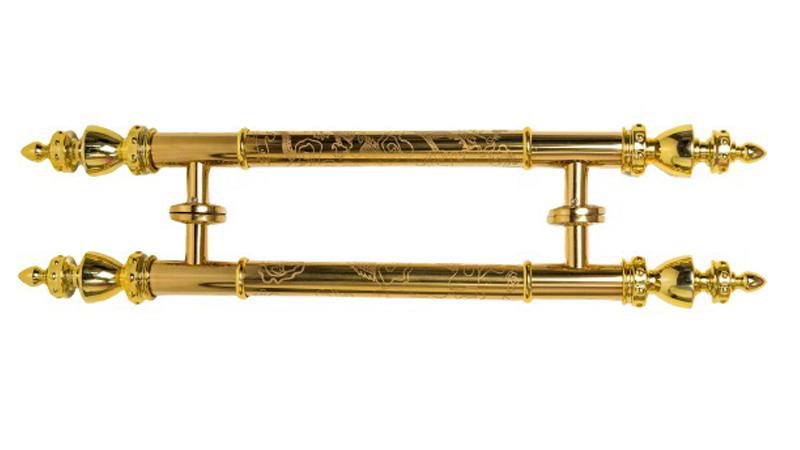 Tay nắm Inox mạ vàng khắc hình rồng chìm