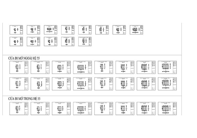 Thư viện bản vẽ cửa nhôm Xingfa