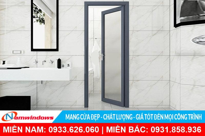 Cửa nhôm kính nhà vệ sinh