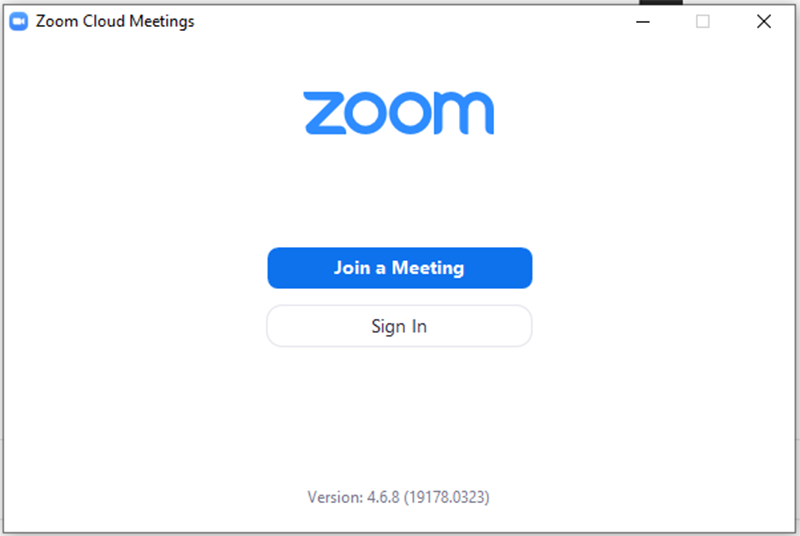 Giao diện phần mềm zoom