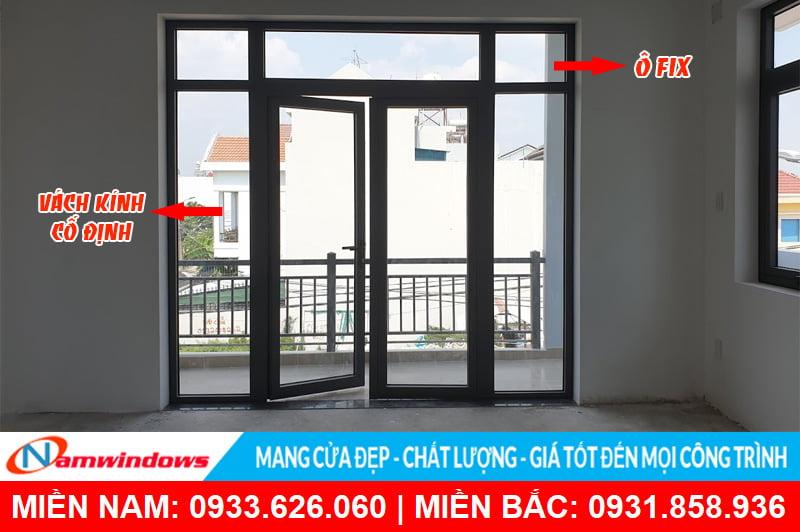 Khái niệm cửa có ô fix là gì