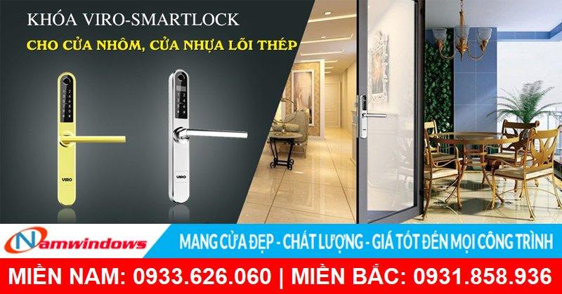 Khóa Viro-Smartlock cho cửa nhôm, cửa nhựa lõi thép