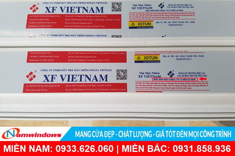 Nhôm xingfa Việt Nam chất lượng cao