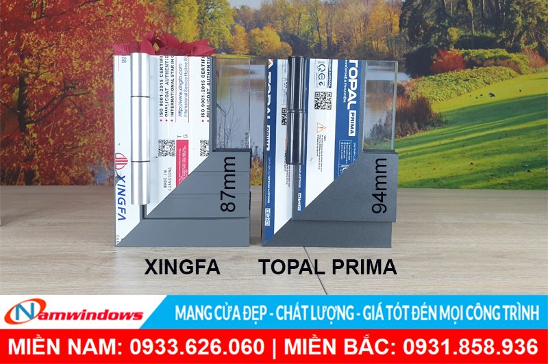 Khác biệt giữa Xingfa và Topal Prima