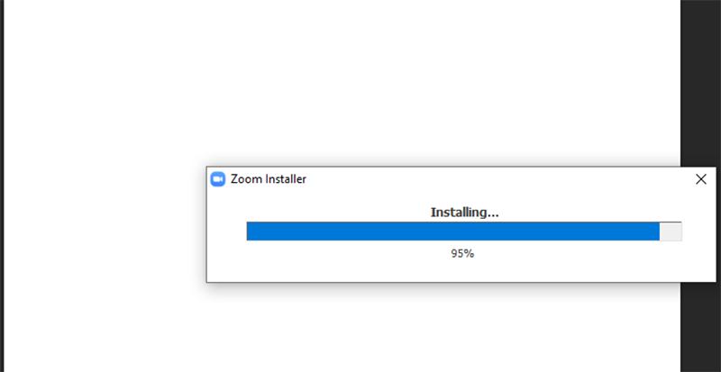 Phần mềm Zoom Meeting Cloud sẽ tự động cài đặt vào máy tính của bạn