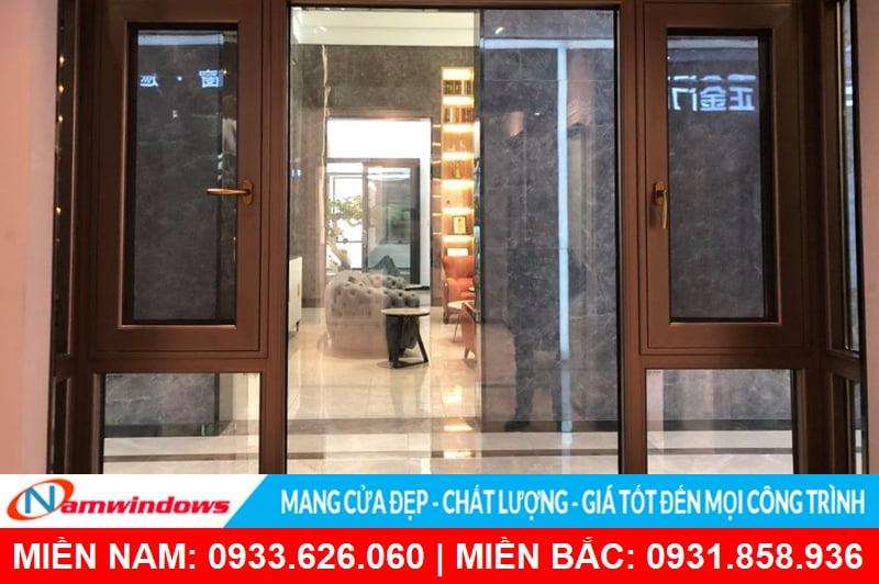 Công trình cửa sổ nhôm kính sử dụng phụ kiện Bogo