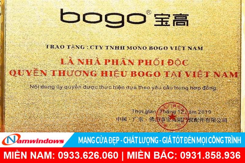 Phụ kiện cửa Bogo đã được chứng nhận thương hiệu độc quyền