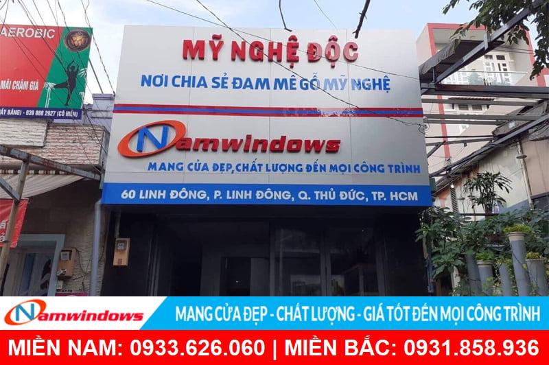 Showroom Namwindows chi nhánh Linh Đông
