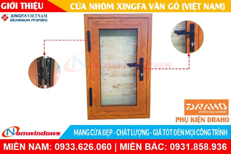Mẫu cửa nhôm xingfa vân gỗ Việt Nam