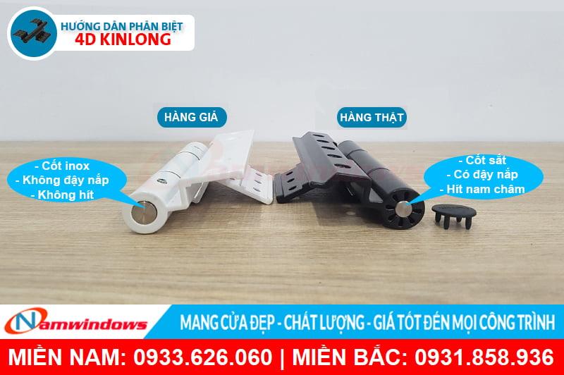 Phân biệt bản lề 4d kinlong chính hãng và hàng loại 2