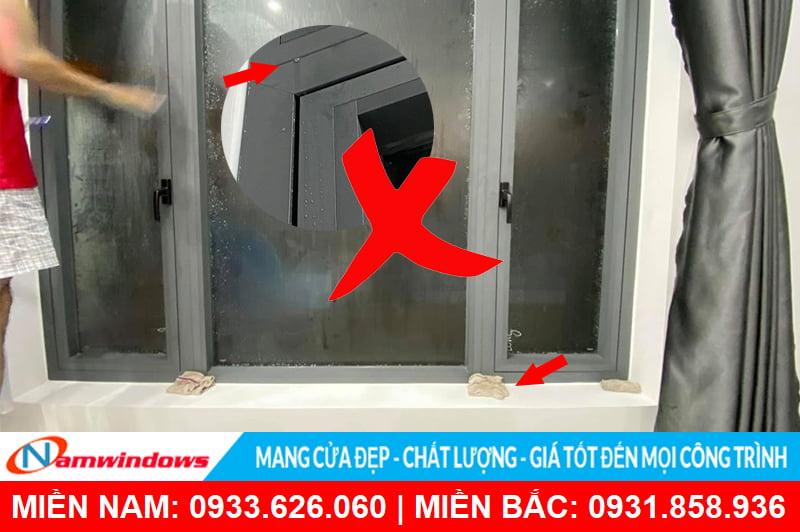 Thi công cửa sổ nhôm xingfa kém