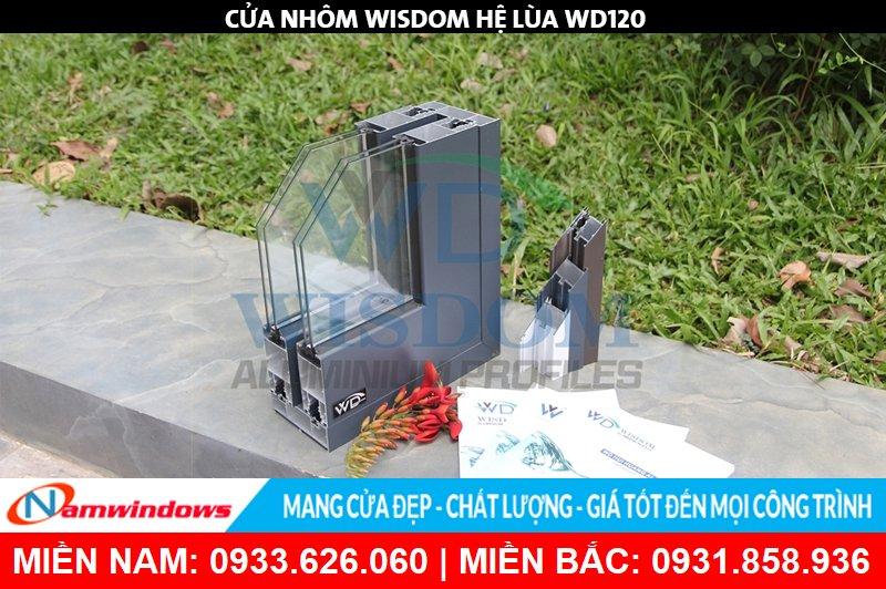 Góc mẫu nhôm Wisdom hệ WD120