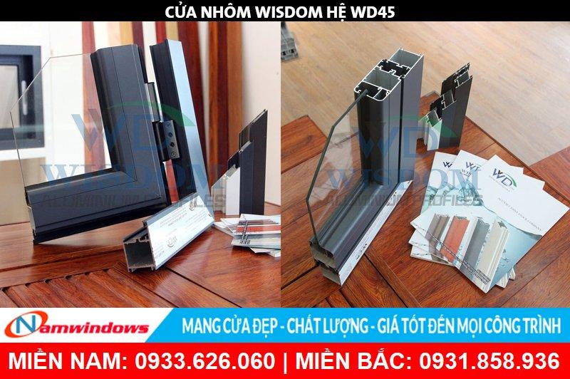 Góc mẫu nhôm Wisdom hệ WD45