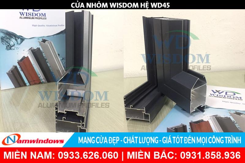 Góc mẫu nhôm Wisdom hệ WD55plus