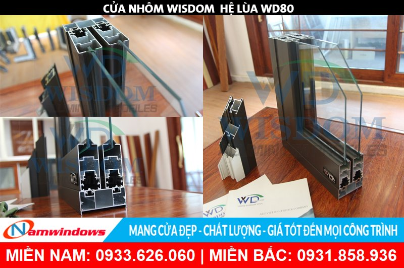 Góc mẫu nhôm Wisdom hệ WD80