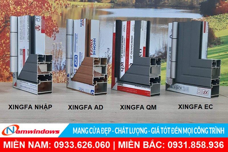 Nhãn hiệu các loại Profile Xingfa