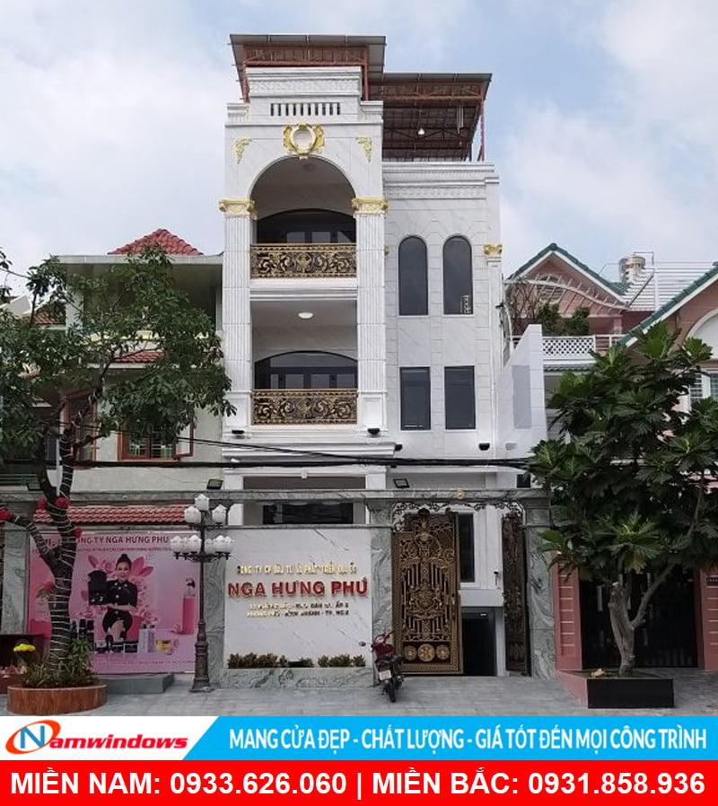 Công trình cửa nhôm uốn vòm Cty Nga Hưng Phú