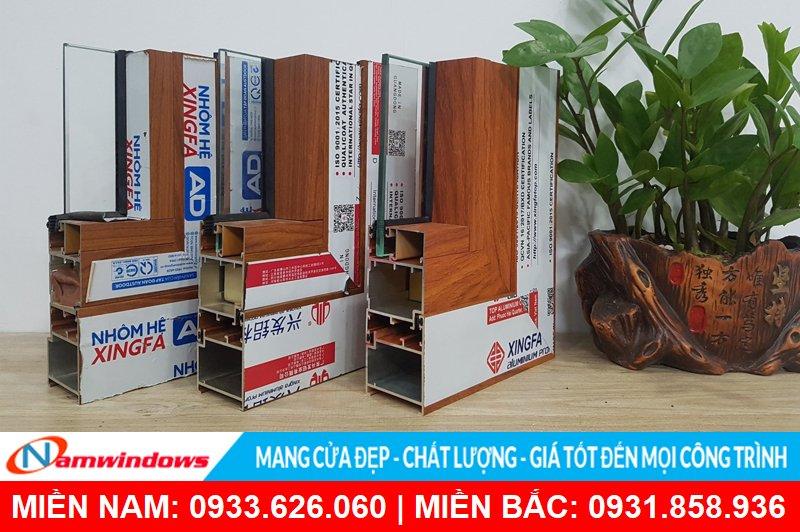 Giá cửa nhôm vân gỗ bao nhiêu tiền 1m2