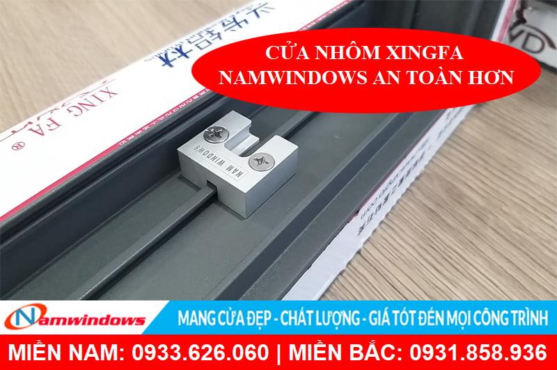 Phụ kiện an toàn chống cạy cửa chỉ có ở sản phẩm cửa nhôm Xingfa Namwindows