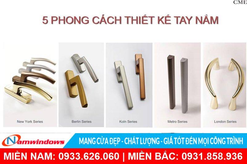 5 phong cách thiết kế tay nắm của Cmech