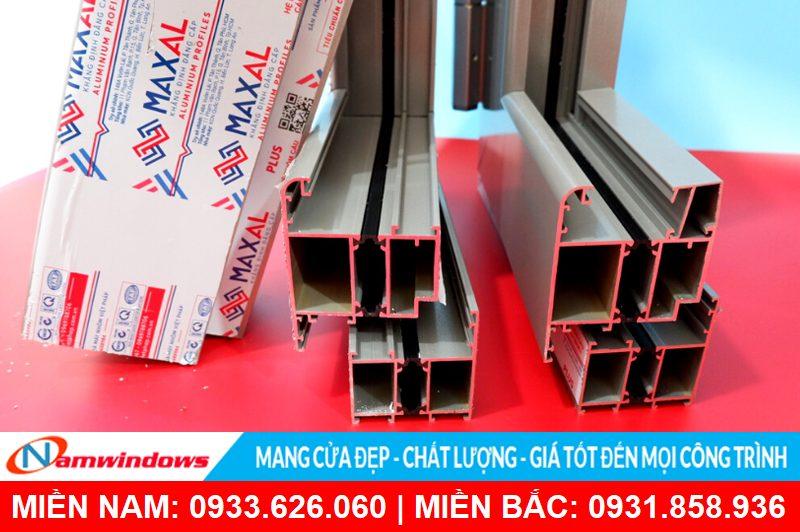 Hình ảnh kết cấu nhôm cầu cách nhiệt Maxal Việt Pháp