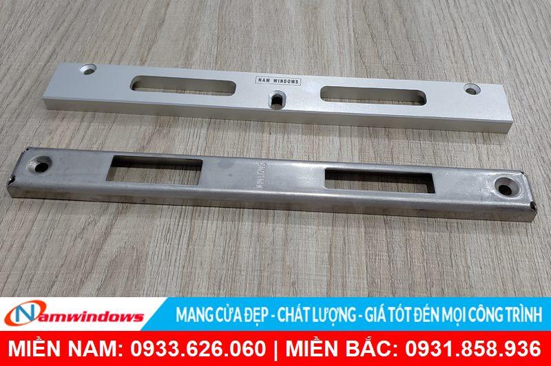 Miệng khóa dành cho cửa nhôm Xingfa của Namwindows đồng bộ chuẩn với Xingfa hơn so với tất cả các hãng phụ kiện trên thị trường.