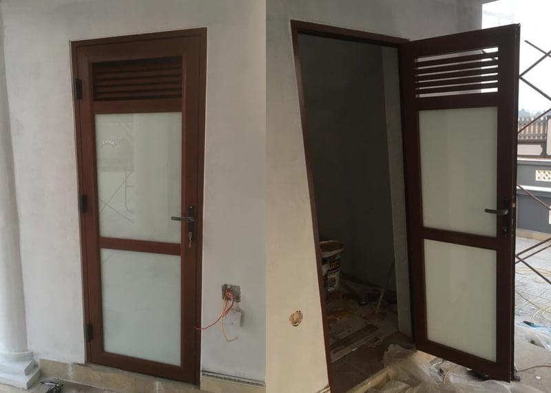 Mẫu cửa nhôm thông gió