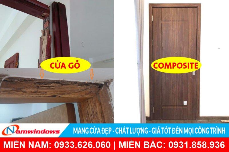 Cửa gỗ và cửa nhựa giả gỗ Composite
