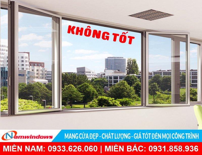 Thiết kế cửa sổ phong thủy: Cửa sổ mở quay vào trong