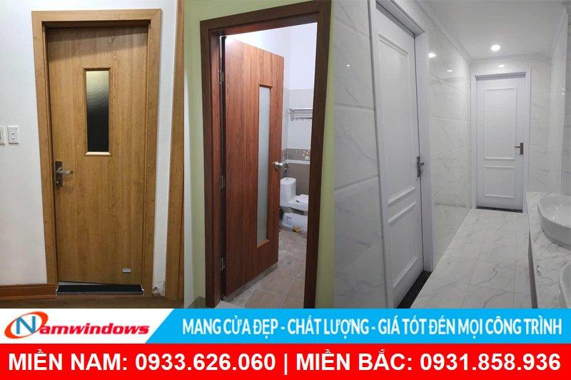 Cửa nhà vệ sinh bằng gỗ Composite