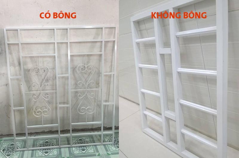 Các loại khung sắt bảo vệ: Khung có bông, khung không có bông