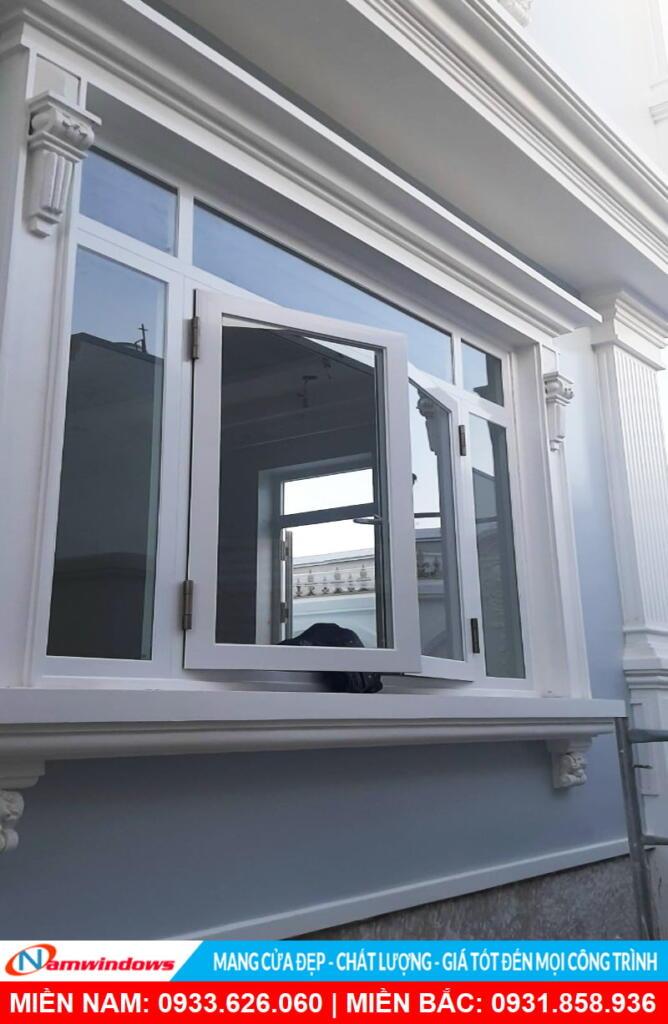 Cửa sổ nhôm Topal prima trắng, phụ kiện Bogo