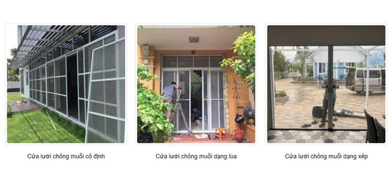 Các dạng cửa lưới chống côn trùng và muỗi
