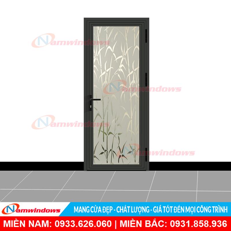 Mẫu cửa phòng xingfa dán decal kính bụi trúc